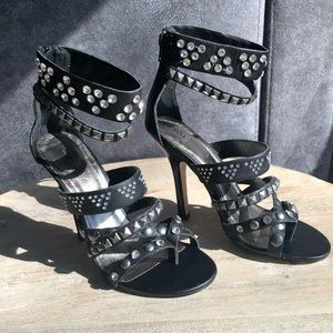 Real leather statement heels!